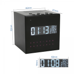 HIDDEN CAMERA DESK CLOCK | HD 1080P COLOR | WIFI LIVE VIEW | NIGHT VISION | MOTION ACTIVATED