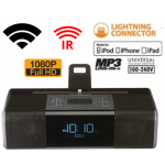HIDDEN CAMERA CLOCK RADIO | WIFI IP COLOR CAMERA | HD 1080P | REMOTE VIEW | NIGHT VISION | BUILT-IN DVR | IPHONE 5/6/7 COMPATIBLE