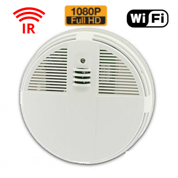 HIDDEN CAMERA SMOKE DETECTOR | WIFI IP COLOR CAMERA | HD 1080P | REMOTE VIEW | NIGHT VISION | BUILT-IN DVR