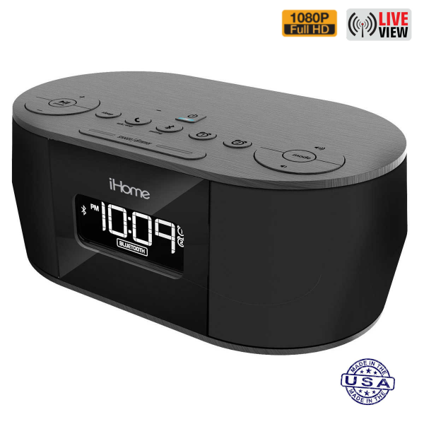 HIDDEN CAMERA CLOCK RADIO | WIFI IP COLOR CAMERA | HD 1080P | REMOTE VIEW | BUILT-IN DVR | IPHONE COMPATIBLE