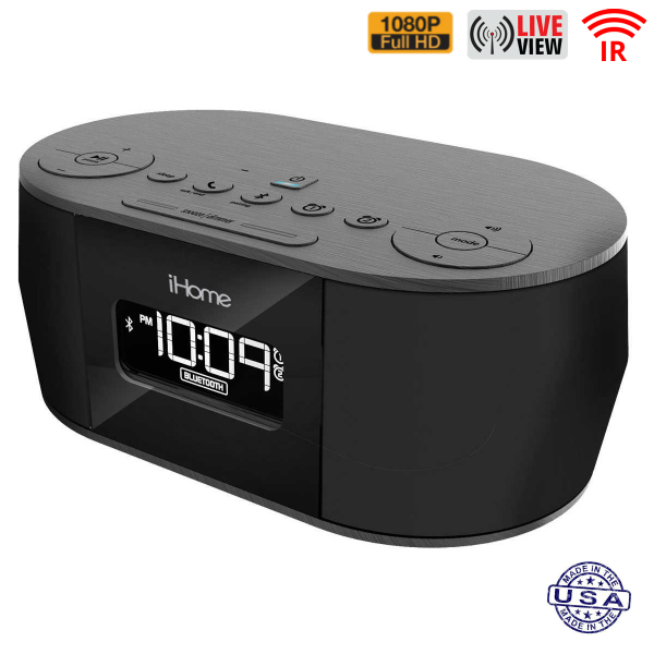 HIDDEN CAMERA CLOCK RADIO | WIFI IP COLOR CAMERA | HD 1080P | REMOTE VIEW | NIGHT VISION | BUILT-IN DVR | IPHONE COMPATIBLE