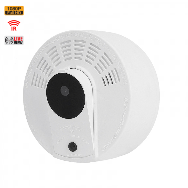 HIDDEN SPY CAMERA SMOKE DETECTOR | HD 1080P COLOR | WIFI LIVE VIEW | NIGHT VISION | MOTION ACTIVATED