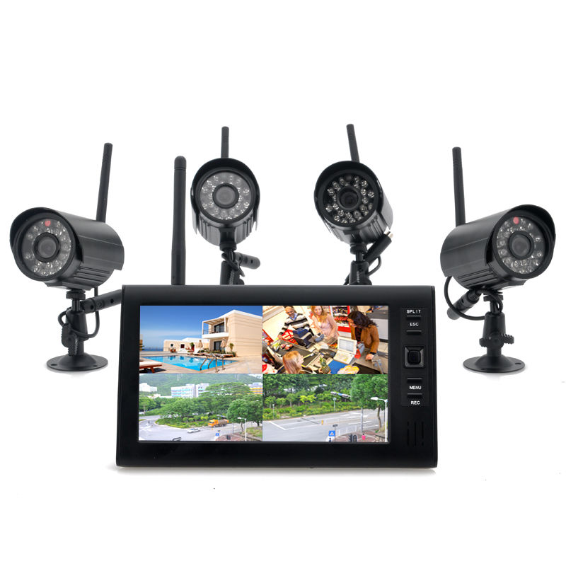 weatherproof wireless camera dvr kit 4 wireless cameras spy store. Black Bedroom Furniture Sets. Home Design Ideas