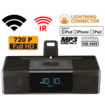 HIDDEN CAMERA CLOCK RADIO | WIFI IP COLOR CAMERA | REMOTE VIEW | NIGHT VISION | BUILT-IN DVR | IPHONE 5/6/7 COMPATIBLE