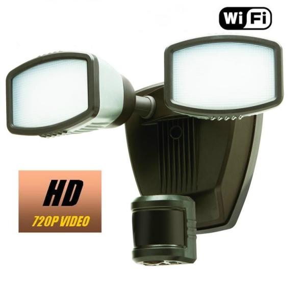 HIDDEN CAMERA WEATHERPROOF FLOOD LIGHT | WIFI IP COLOR CAMERA | REMOTE VIEW | BUILT-IN DVR