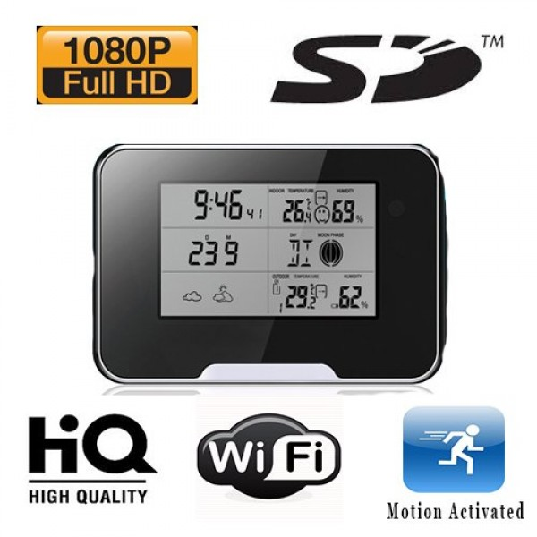 HIDDEN CAMERA WEATHER STATION | 1080P HD | WIFI GLOBAL REMOTE VIEW | $149.00